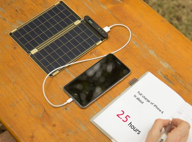 solar paper phone charger