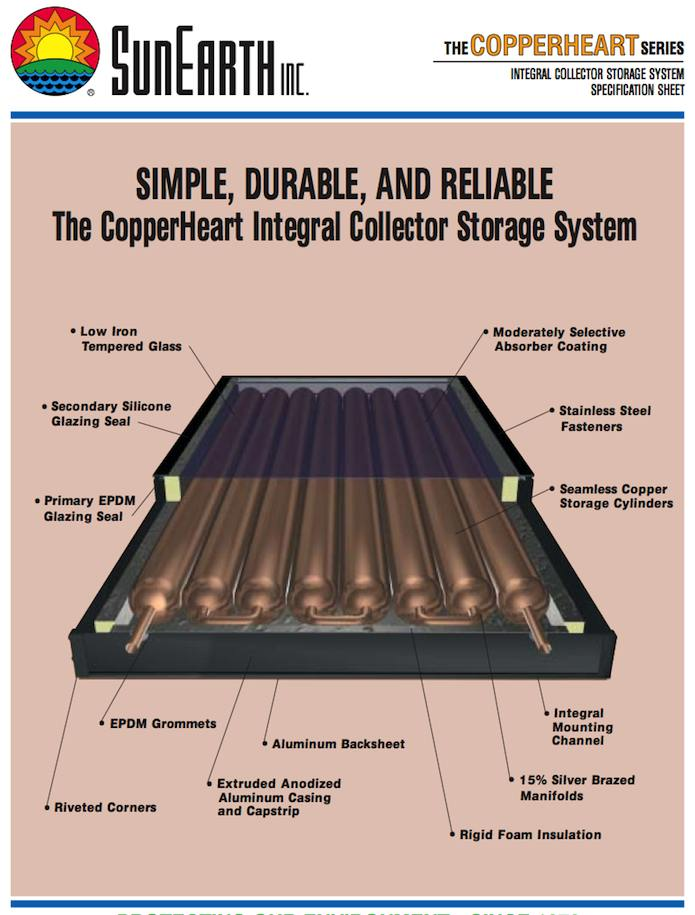 Sunearth Copperheart Solar Hot Water System