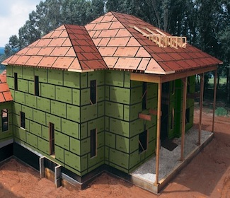Zip system wall sheathing green home product source for Sheathing house wrap